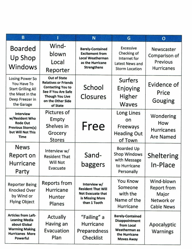 HURRICANE BINGO SCAN